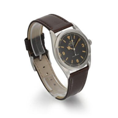 View 3. Thumbnail of Lot 364. ROLEX   EXPLORER, REF 5504, STAINLESS STEEL WRISTWATCH, CIRCA 1958.