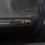 Hermès Bleu Indigo Birkin 30cm of Ostrich with Palladium Hardware