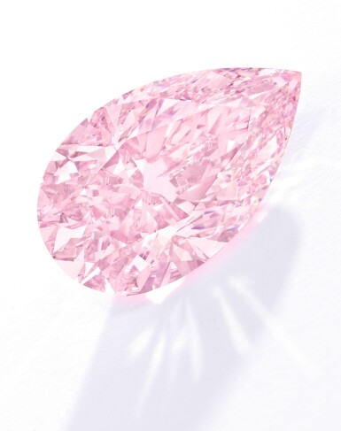 View 6. Thumbnail of Lot 134. An Exquisite Fancy Pink Diamond and Diamond Ring.