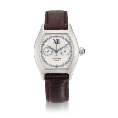 View 1. Thumbnail of Lot 30. Tortue Monopoussoir, Ref. 2396 White Gold Single-Button Chronograph Wristwatch Circa 2000.