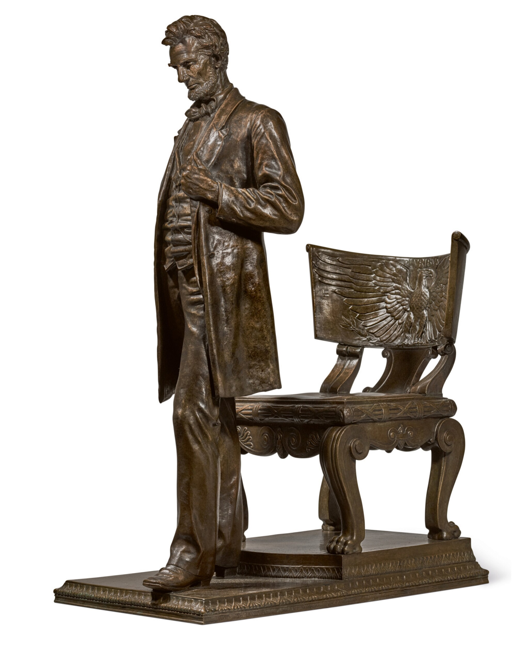 View full screen - View 1 of Lot 40. AUGUSTUS SAINT-GAUDENS | ABRAHAM LINCOLN: THE MAN (STANDING LINCOLN).