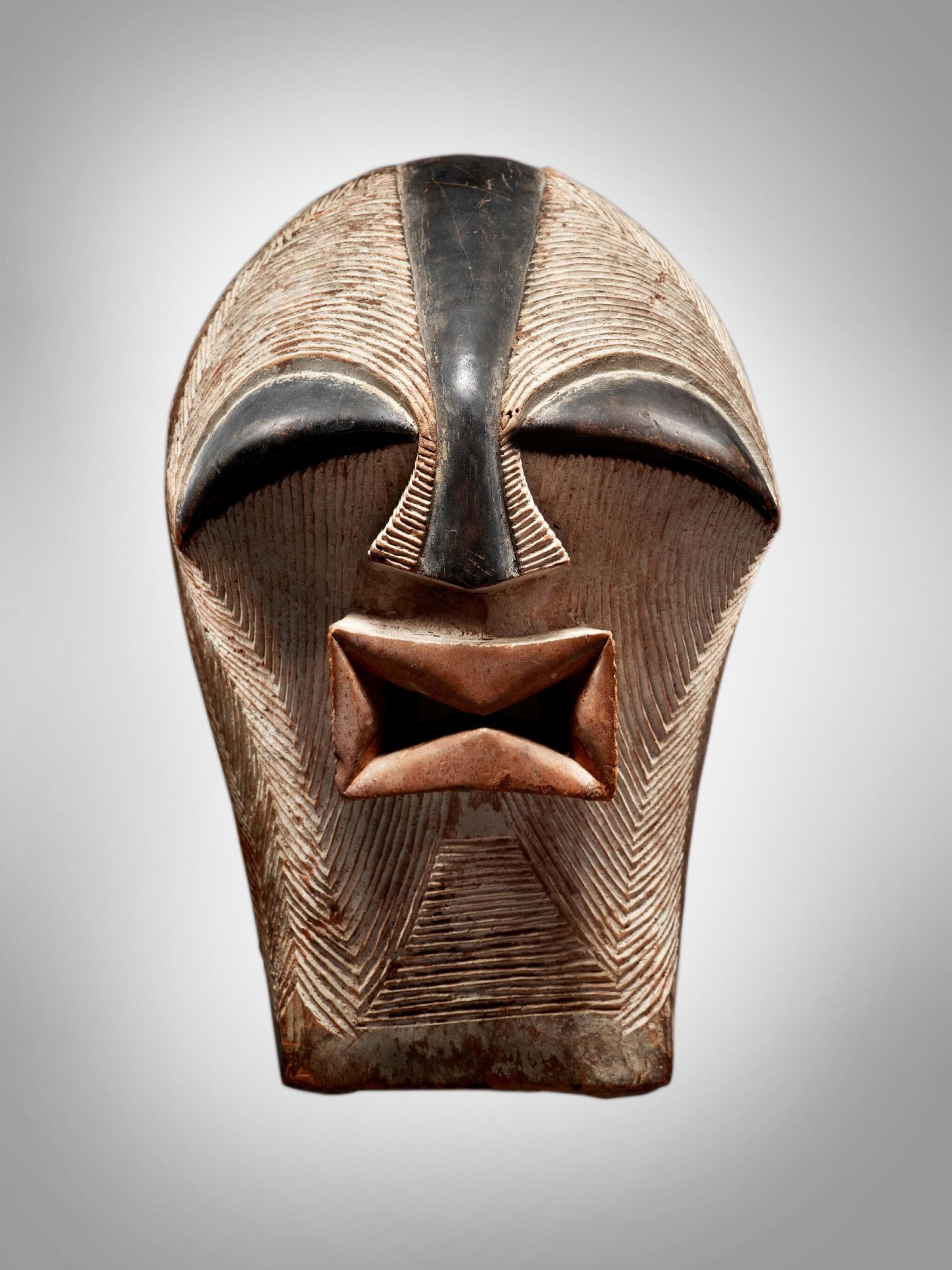 View full screen - View 1 of Lot 76. Songye Mask, Democratic Republic of the Congo.