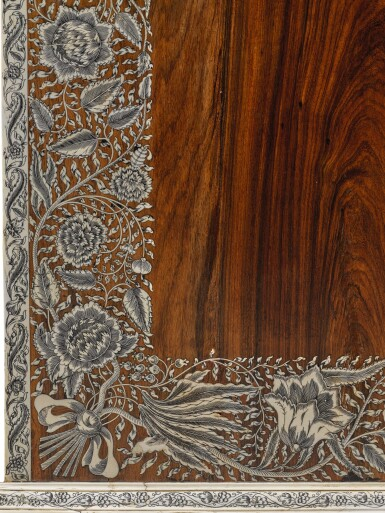View 3. Thumbnail of Lot 175. AN ANGLO-INDIAN IVORY INLAID ROSEWOOD WRITING OR DRESSING TABLE, VIZAGAPATAM, MID-18TH CENTURY.