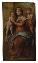 MANNER OF ANDREA DEL SARTO   MADONNA AND CHILD WITH SAINT JOHN THE BAPTIST AS A CHILD
