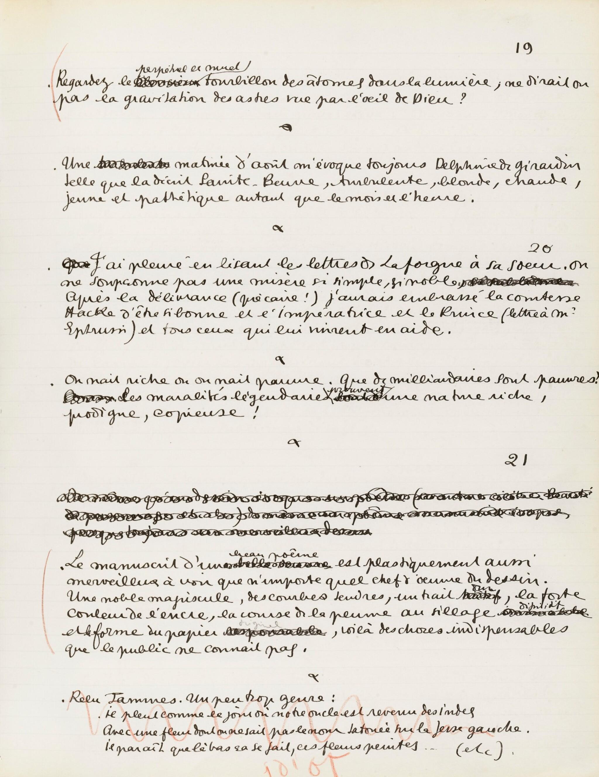 View full screen - View 1 of Lot 224. COCTEAU. Journal 1911-1912. Manuscrit inédit. 91 p. in-folio. Précieux journal de jeunesse. .