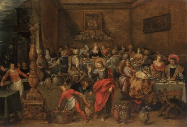 FRANS FRANCKEN THE ELDER | The wedding feast at Cana