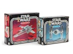 2 STAR WARS FIGHTERS, X-WING FIGHTER AND TIE FIGHTER, US, 1978