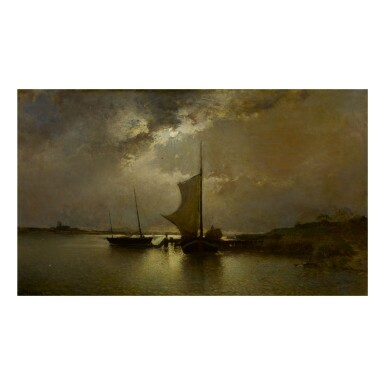 ALFRED WAHLBERG | SHIPS BY MOONLIGHT
