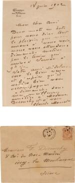 Monet | Autograph letter signed (''Claude Monet''), to the painter Ferdinand Deconchy, Giverny, 1902