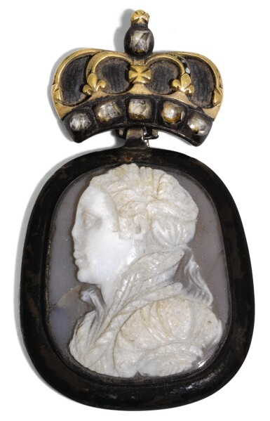 View 1. Thumbnail of Lot 176. PROBABLY ITALIAN, SECOND HALF 16TH CENTURY | CAMEO WITH A YOUNG WOMAN, THOUGHT TO BE MARY QUEEN OF SCOTS.