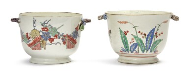 TWO CHANTILLY 'KAIKEMON' SMALL COOLERS, CIRCA 1740-45