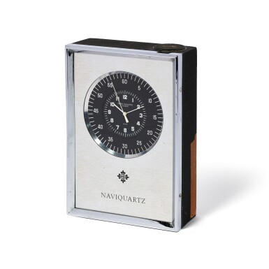 View 2. Thumbnail of Lot 43. PATEK PHILIPPE | REFERENCE 1200, NAVIQUARTZ AN ALUMINUM DESK TIMEPIECE, MADE IN 1972.