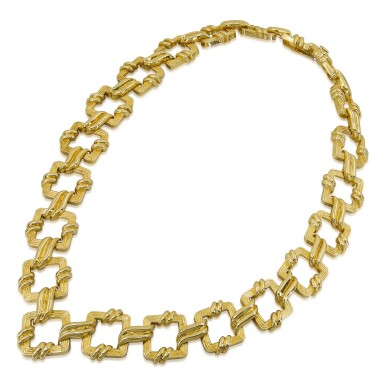 View 1. Thumbnail of Lot 23. TIFFANY & CO.   GOLD NECKLACE.