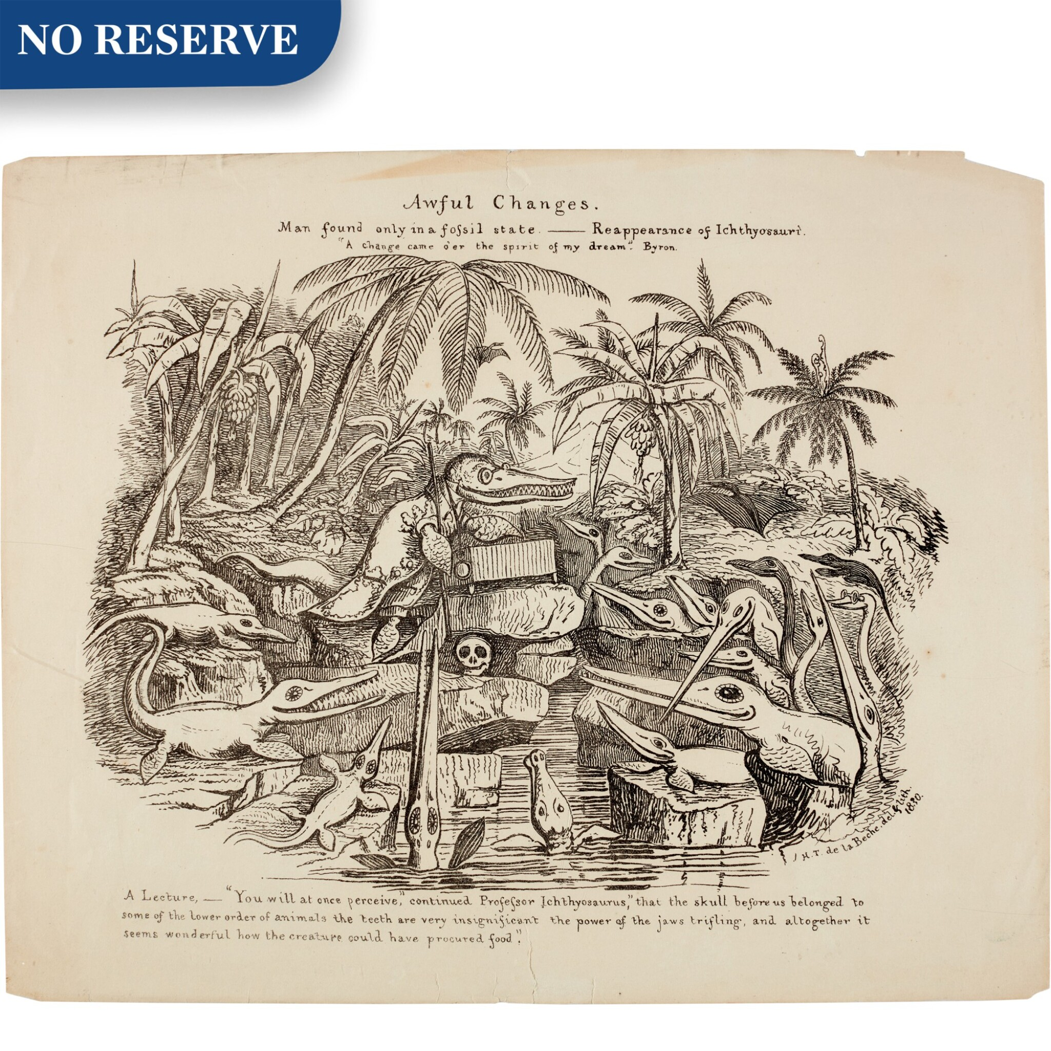 View full screen - View 1 of Lot 17. De La Beche | Awful Changes, lithograph, 1830.