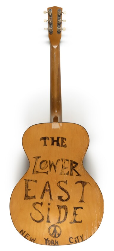 View 3. Thumbnail of Lot 60. JOHN LENNON   semi-acoustic guitar from the collection of Jesse Ed Davis, inscribed by Lennon, 1975.