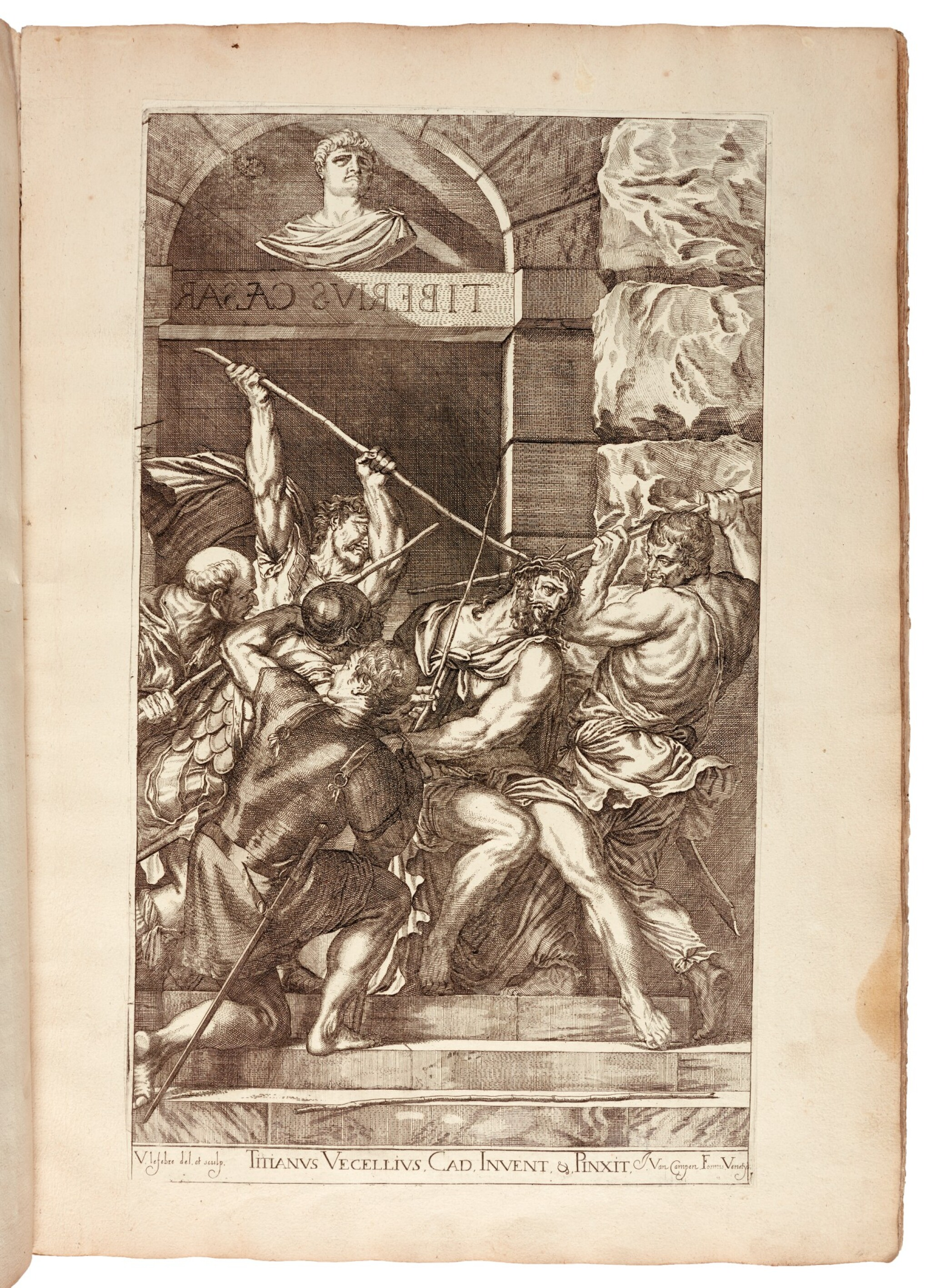 View full screen - View 1 of Lot 267. Titian and Paolo Veronese, Opera selectiora... [Venice], 1682, contemporary vellum.