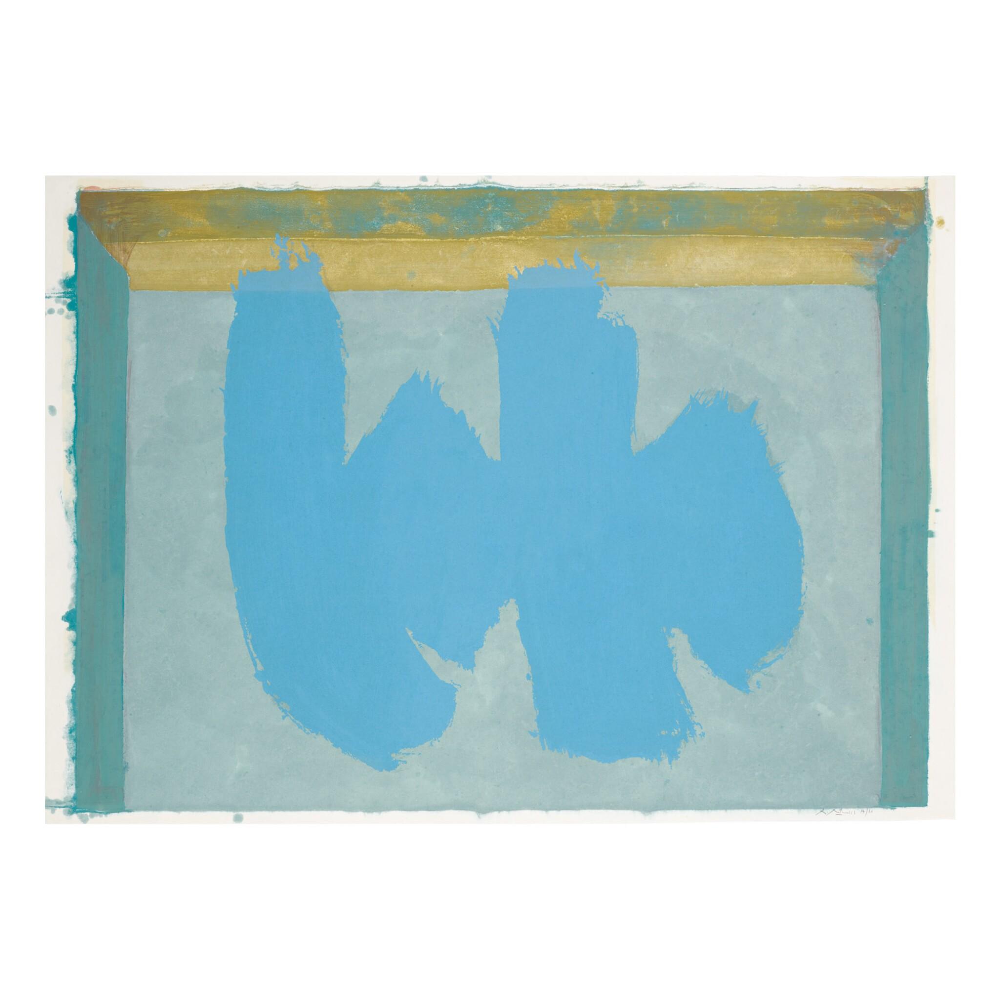 View full screen - View 1 of Lot 24. ROBERT MOTHERWELL | BLUE ELEGY (WALKER ART CENTER 379).
