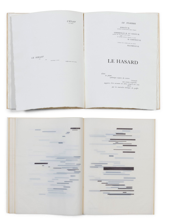 """View full screen - View 1 of Lot 140. 2 versions du """"Coup de dés"""": édition de la NRF (1914) et édition sur calque (1969)."""