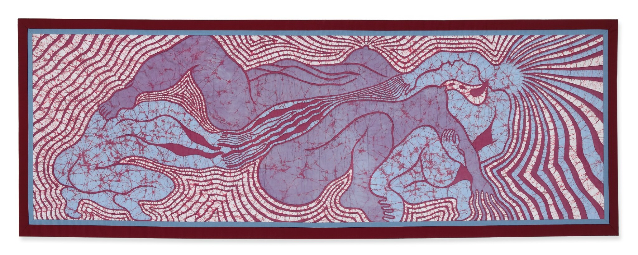 View full screen - View 1 of Lot 223. JUDY CHICAGO | BIRTH TRINITY QUILT .