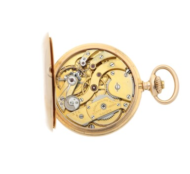 View 7. Thumbnail of Lot 35. PATEK PHILIPPE |  A PINK GOLD HUNTING CASED WATCH, MADE IN 1902.