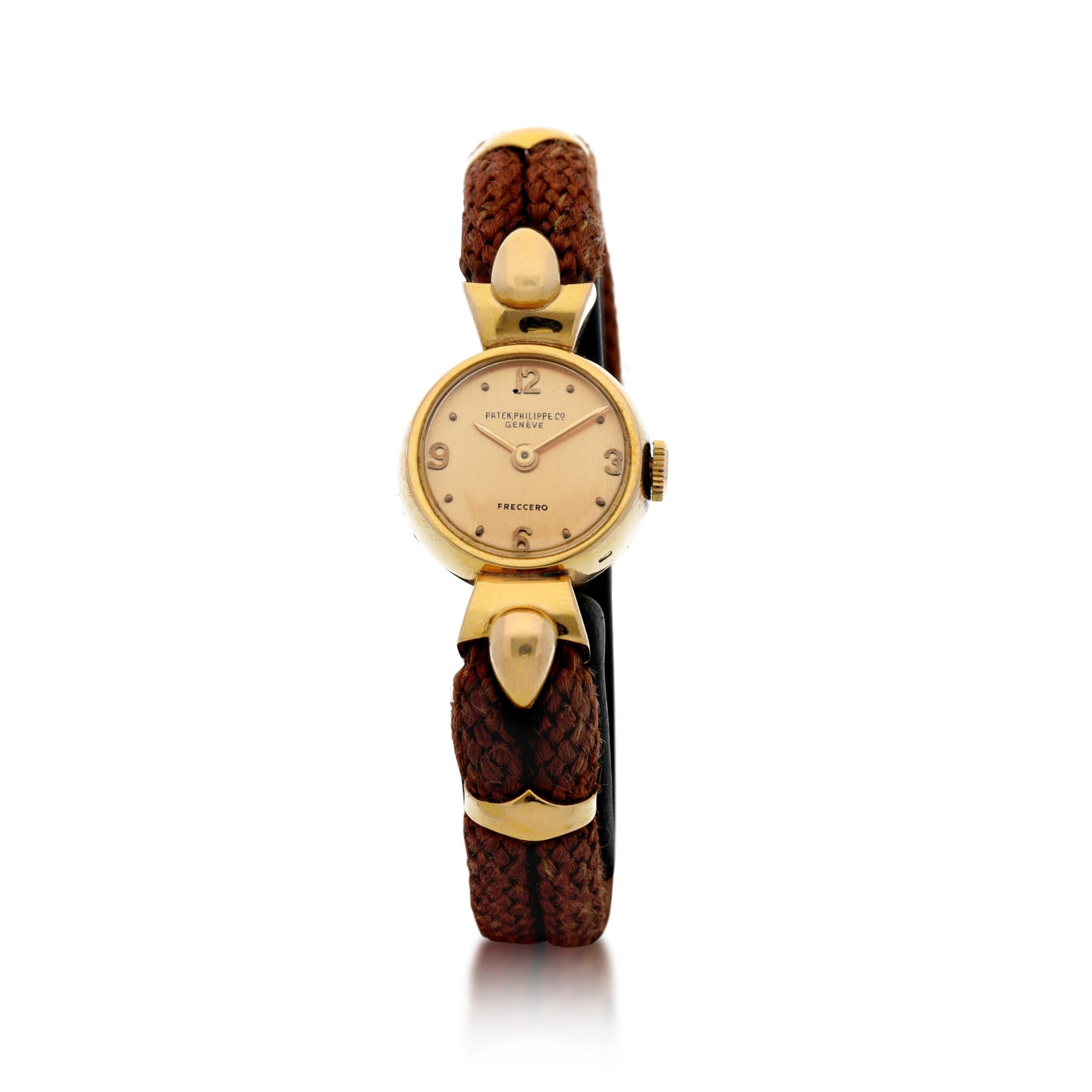View full screen - View 1 of Lot 314. RETAILED BY FRECCERO: A LADY'S PINK GOLD WRISTWATCH, CIRCA 1918.