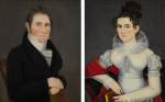ATTRIBUTED TO AMMI PHILLIPS | PAIR OF PORTRAITS: SAMUEL AND LETITIA SLOANE