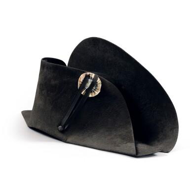 """View 5. Thumbnail of Lot 33. The legendary """"à la française"""" hat of Emperor Napoleon I, worn during his campaign in Pologne (1807)   Légendaire chapeau de l'empereur Napoléon Ier, de forme traditionnelle dite à la française, porté durant la campagne de Pologne (1807).."""