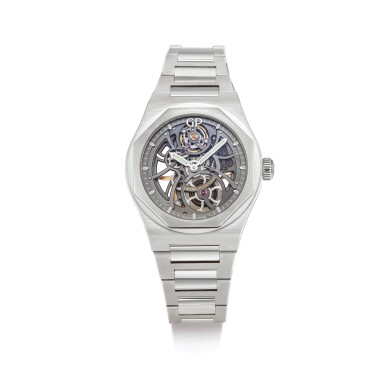 View 1. Thumbnail of Lot 2008. GIRARD-PERREGAUX  |  LAUREATO, REFERENCE 81015-11-001-11A  A STAINLESS STEEL SKELETONISED BRACELET WRISTWATCH, CIRCA 2017 | 芝柏 | .