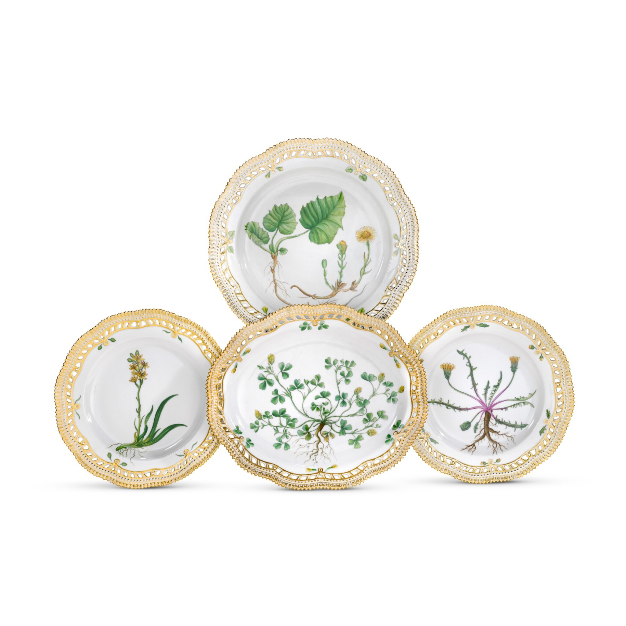 View full screen - View 1 of Lot 46. A ROYAL COPENHAGEN 'FLORA DANICA' PART SERVICE AND A BING & GRONDHAL PART DINNER SERVICE, 20TH CENTURY.