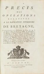 Précis des opérations relatives à la navigation intérieure de Bretagne...1785. In-fol. (veau de l'époque)