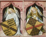 NORTHERN FRENCH SCHOOL, CIRCA 1480 | A pair of angels with coats of arms