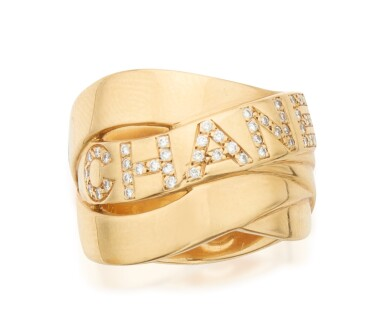 GOLD AND DIAMOND 'BOLDUC' RING, CHANEL
