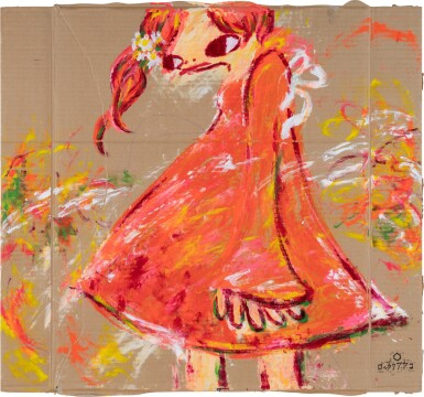 View 1. Thumbnail of Lot 44. Girl in Red Dress   紅裙子女孩.