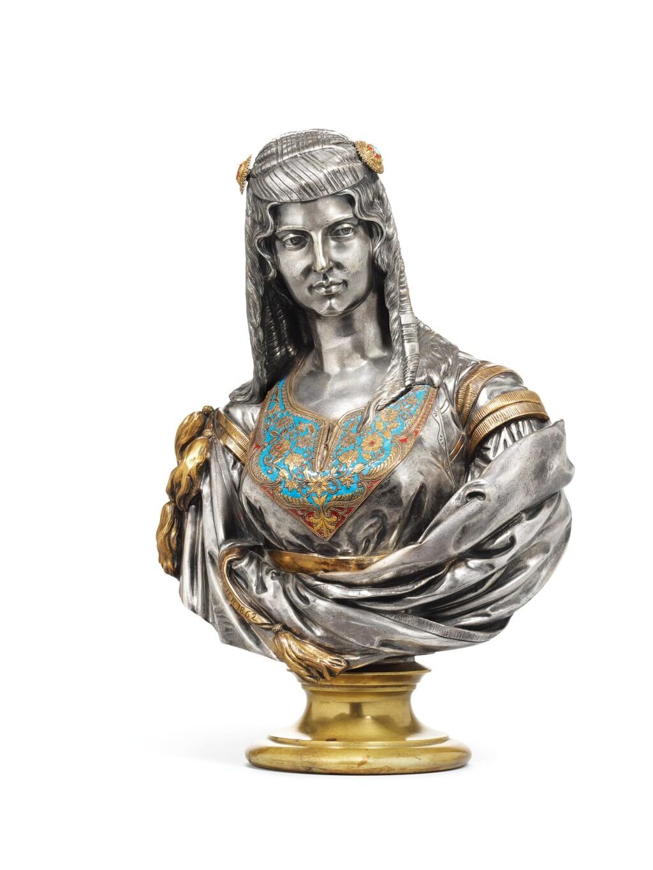 CHARLES-HENRI-JOSEPH CORDIER | JUIVE D'ALGER         (JEWISH WOMAN OF ALGIERS)