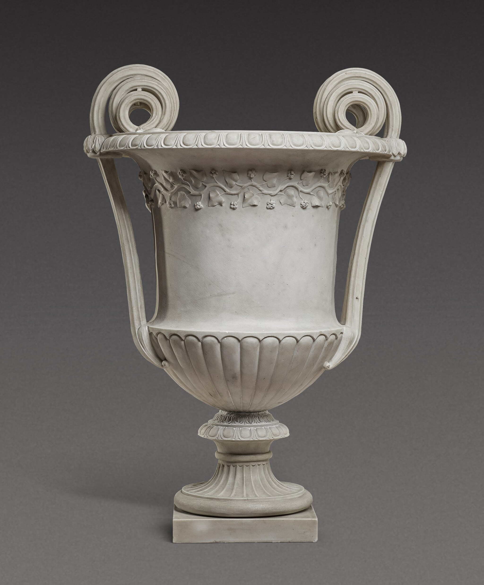 View 1 of Lot 168. An Italian neoclassical carved marble vase, Rome, late 18th century/early 19th century.