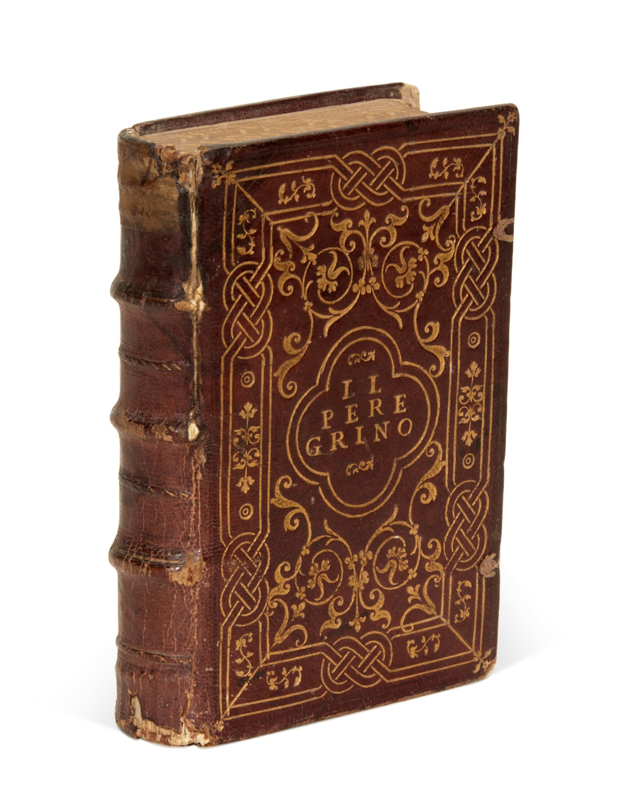 View full screen - View 1 of Lot 54. Atanagi, De le lettere facete, 1561; Achilles Tatius, Amorosi ragionamenti, 1546, contemporary Roman binding.