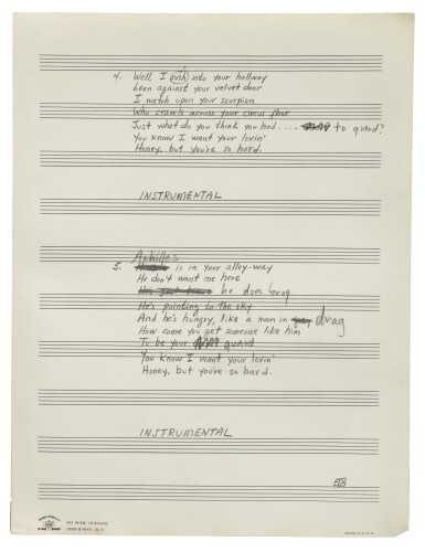 """View 6. Thumbnail of Lot 139. [DYLAN, BOB] 