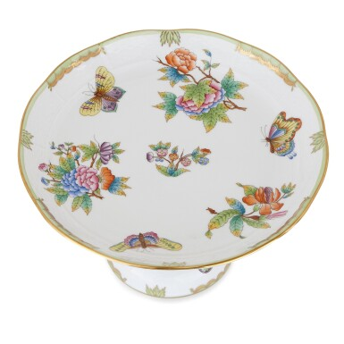 """View 4. Thumbnail of Lot 2. AN EXTENSIVE HEREND PORCELAIN """"VICTORIA"""" PATTERN COMPOSITE PART DINNER AND DESSERT SERVICE, 20TH CENTURY."""