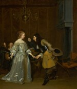 'The Introduction', or An officer making his bow to a lady