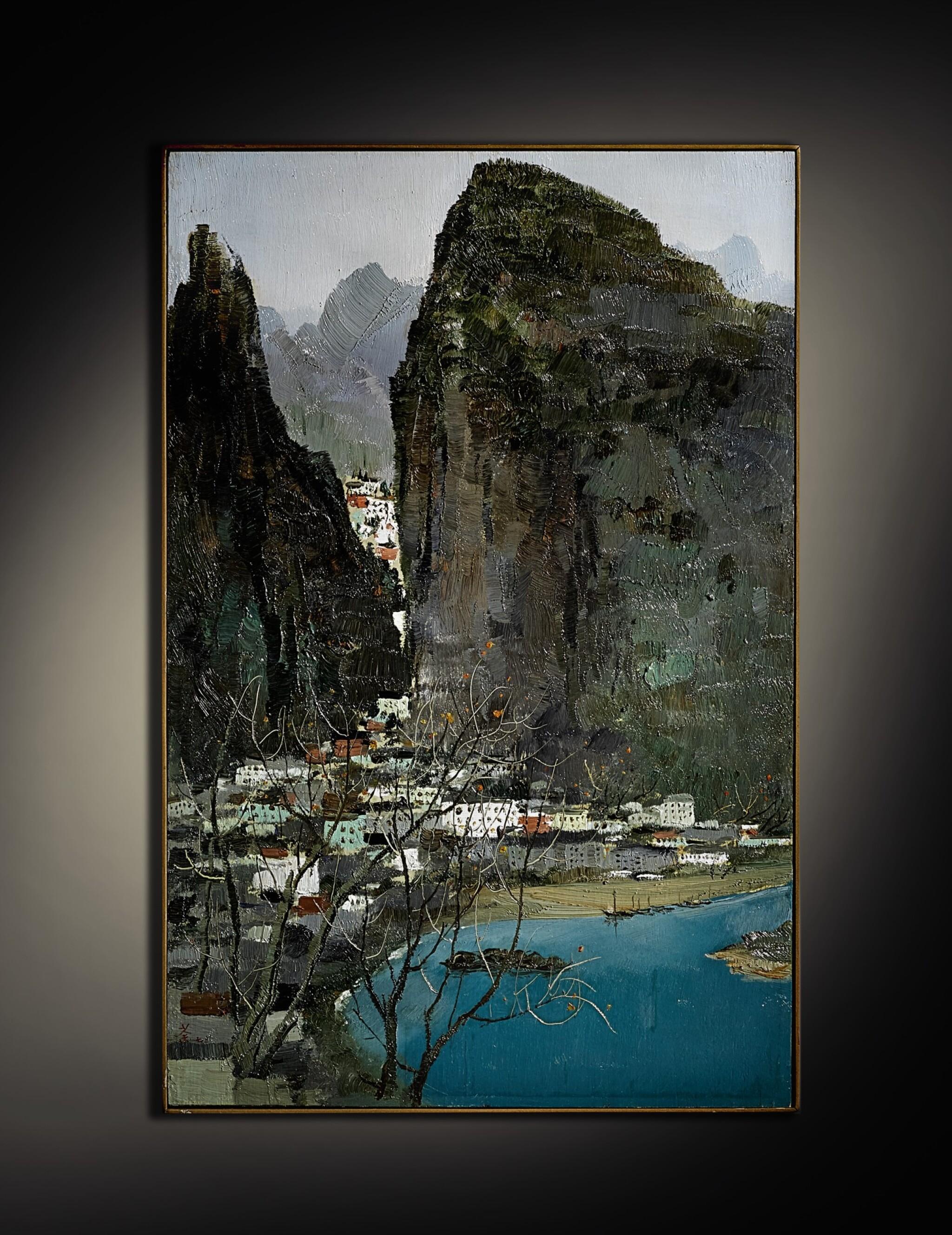 View full screen - View 1 of Lot 1014.  WU GUANZHONG  吳冠中   SCENERY OF GUILIN 桂林景色.