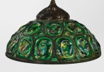"TIFFANY STUDIOS | ""TURTLE-BACK"" CHANDELIER"