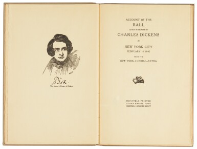 Beazell, et al., Account of the Ball given in Honor of Charles Dickens in New York, 1908, first edition