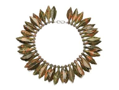 Jasper and diamond necklace, 'Autumn', Michele della Valle