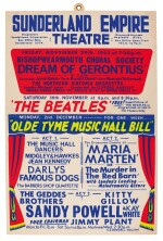 THE BEATLES | Window card for their performance at the Sunderland Empire Theatre, 30 November 1963
