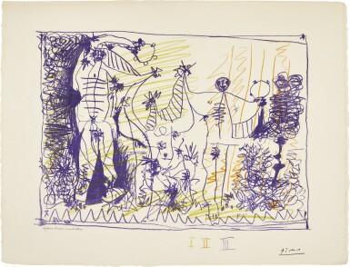 PABLO PICASSO | AFFICHE POUR L'EXPOSITION 1957 (B. 1275; M. 299; CZW. 25)