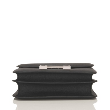 Hermès Black Constance 24cm of Epsom Leather with Palladium Hardware