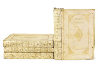 View 1. Thumbnail of Lot 40. Willem and Joan Blaeu | Le theatre du monde, 1643-1645, 4 volumes, contemporary presentation binding.