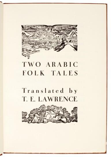 View 2. Thumbnail of Lot 126. LAWRENCE, T.E. | Two Arabic Folk Tales, 1937, no.13/30 copies.