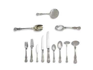 View 2. Thumbnail of Lot 107. An Extensive American Silver English King Pattern Flatware Service, Tiffany & Co., New York, Late 19th Century and Later.