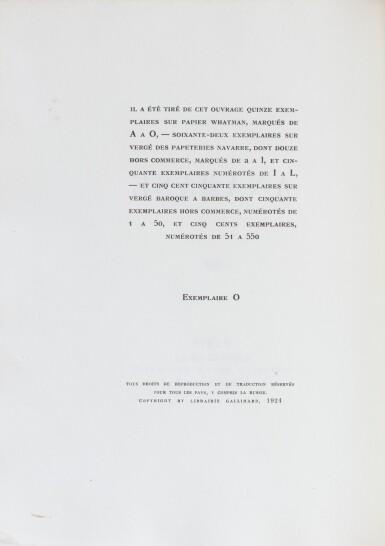 View 2. Thumbnail of Lot 176. Anabase. NRF, 1924. Bel exemplaire broché. 1/15 exemplaires de tête sur Whatman.